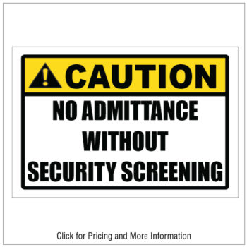 No-Admittance-Without-Screening